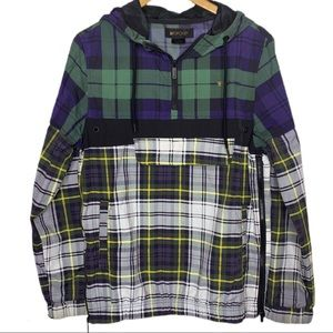 Wind Jacket Tartan Plaid  Hooded Pullover Be.Spoke
